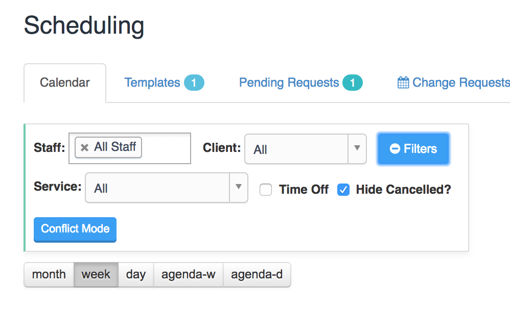Hiding Cancelled Events on Scheduler Page