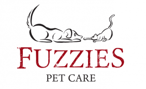 Fuzzies Pet Care owner and dog