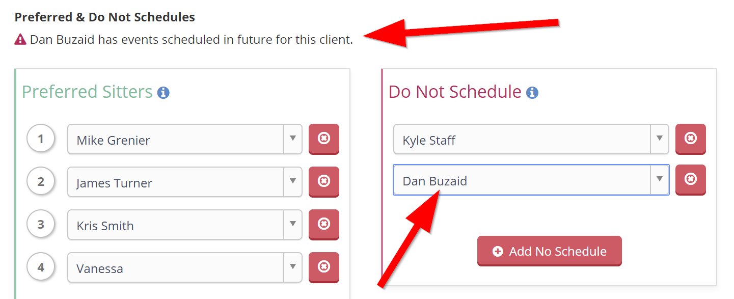 Do Not Schedule Tool Warning When Staff Has Future Events