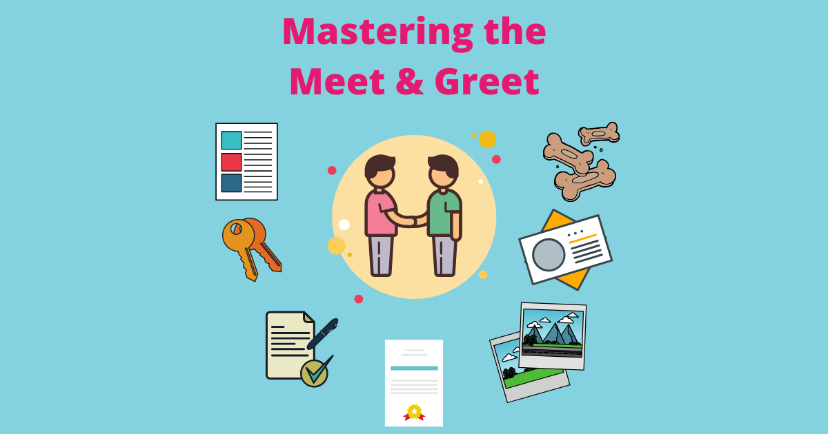 What to bring for a pet sitting or dog walking meet and greet