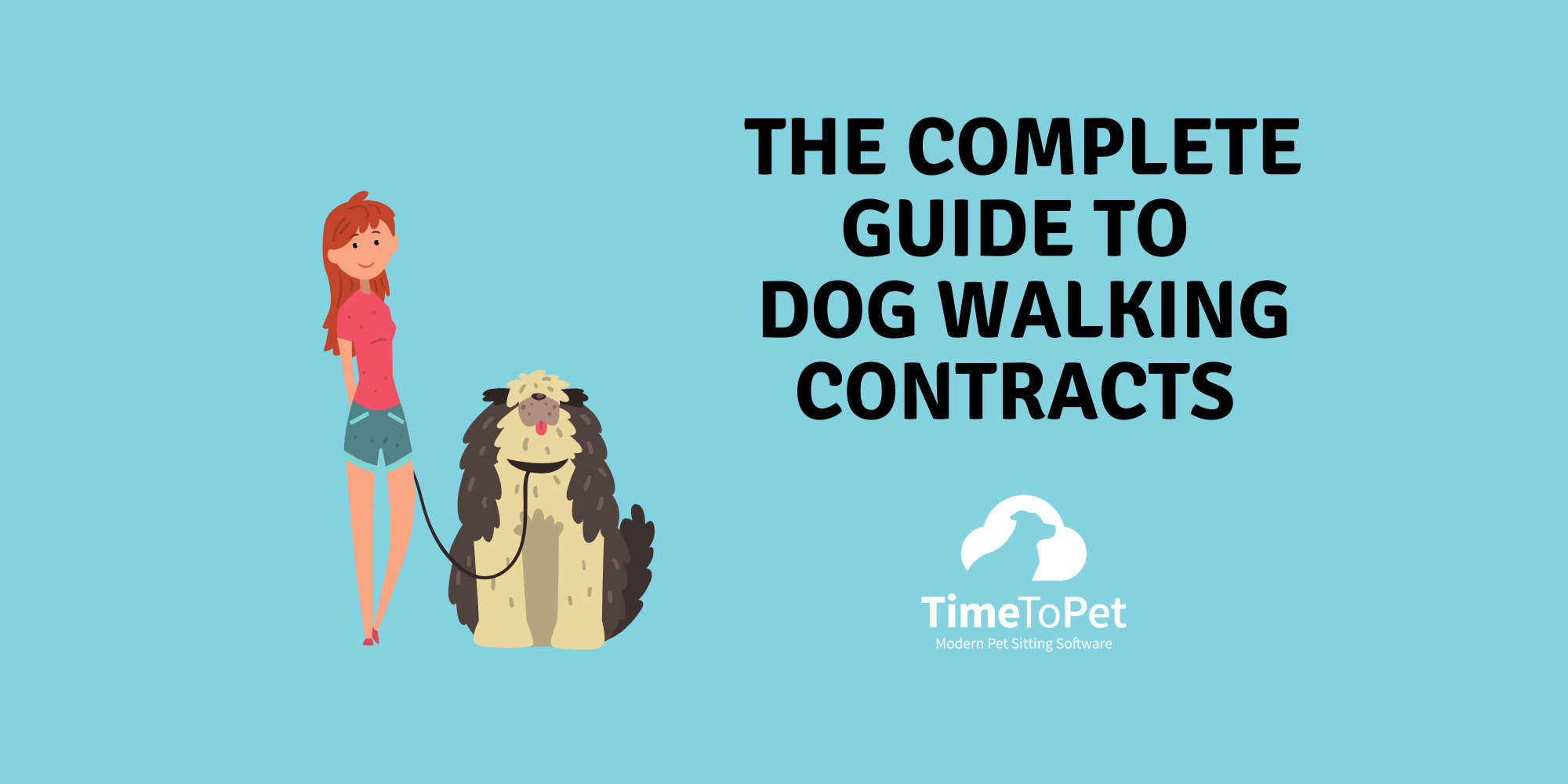 summary image for what to include in dog walking contracts