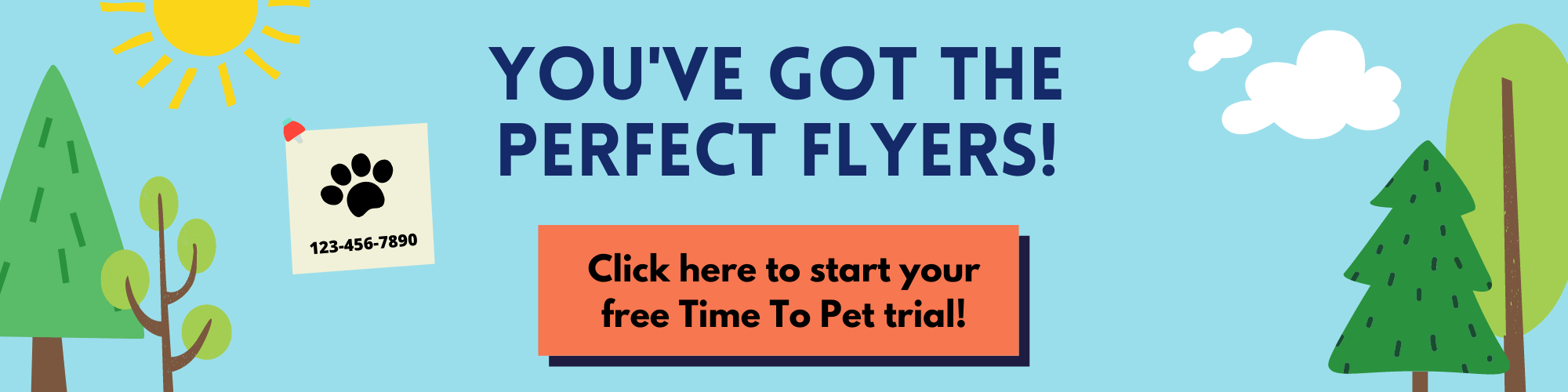 Free-Trial-CTA-pet-sitting-Flyers