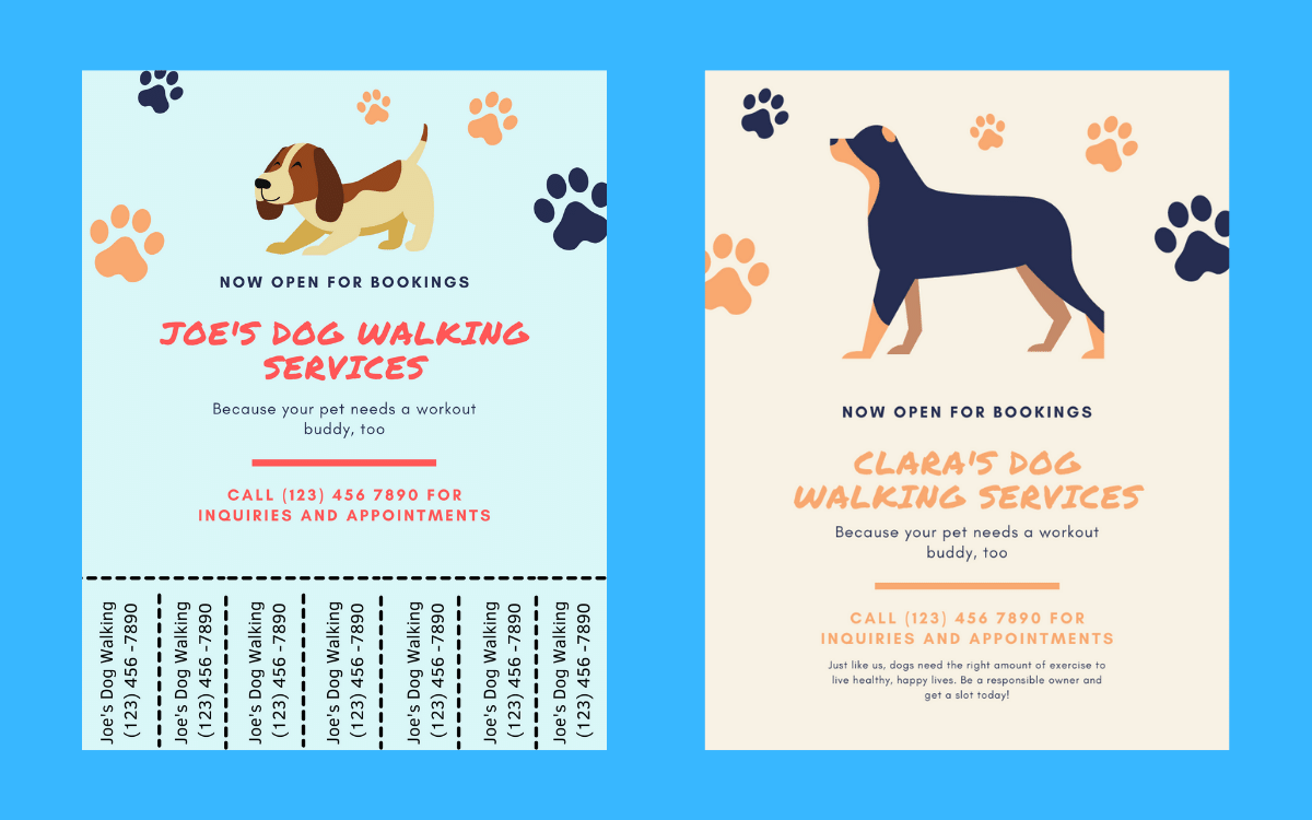 Two-flyers-for-dog-walkers