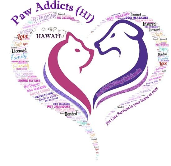 Paw Addicts Pet Care Services Hawaii Logo