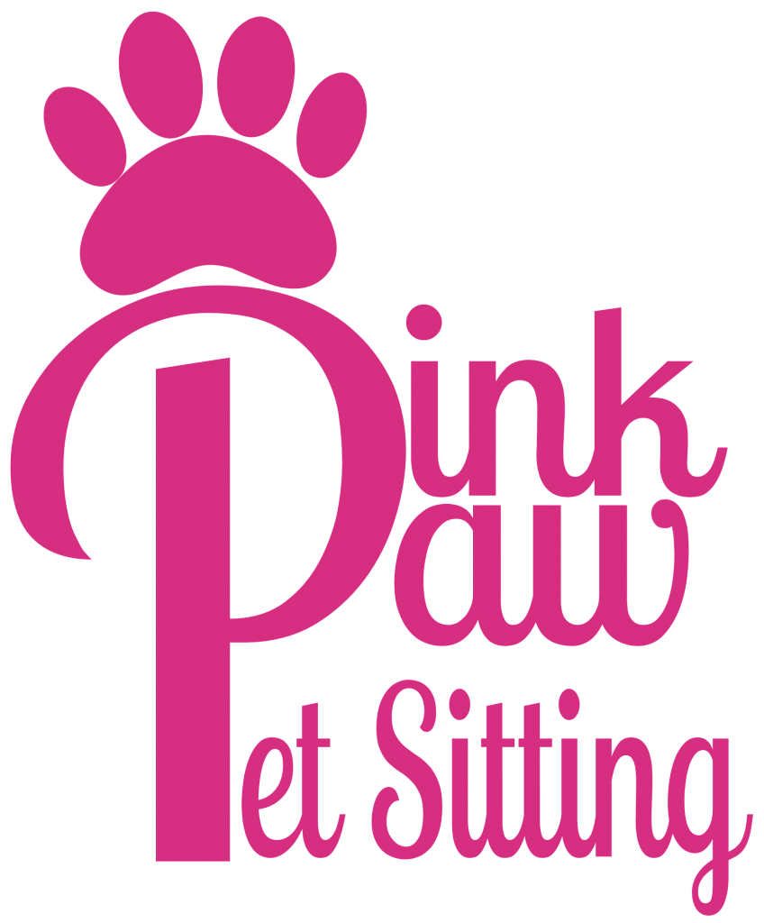 Pink Paw Pet Sitting Logo