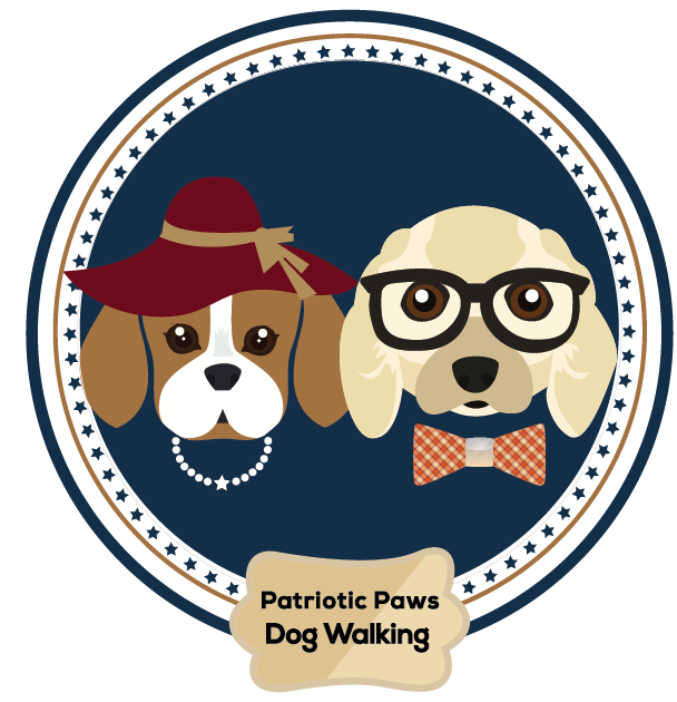 Patriotic Paws Dog Walking Logo