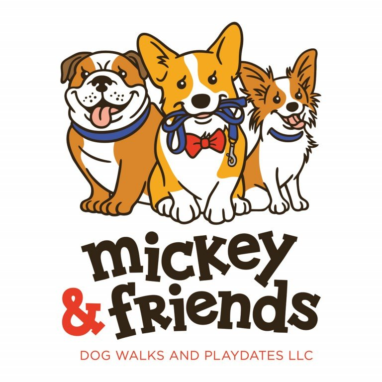 Mickey & Friends Dog Walks and Playdates LLC Logo