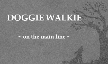 Doggie Walkie on the Main Line Logo
