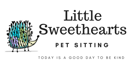 Little Sweethearts Pet Sitting Logo