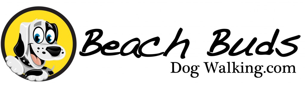Beach Buds Dog Walking Logo