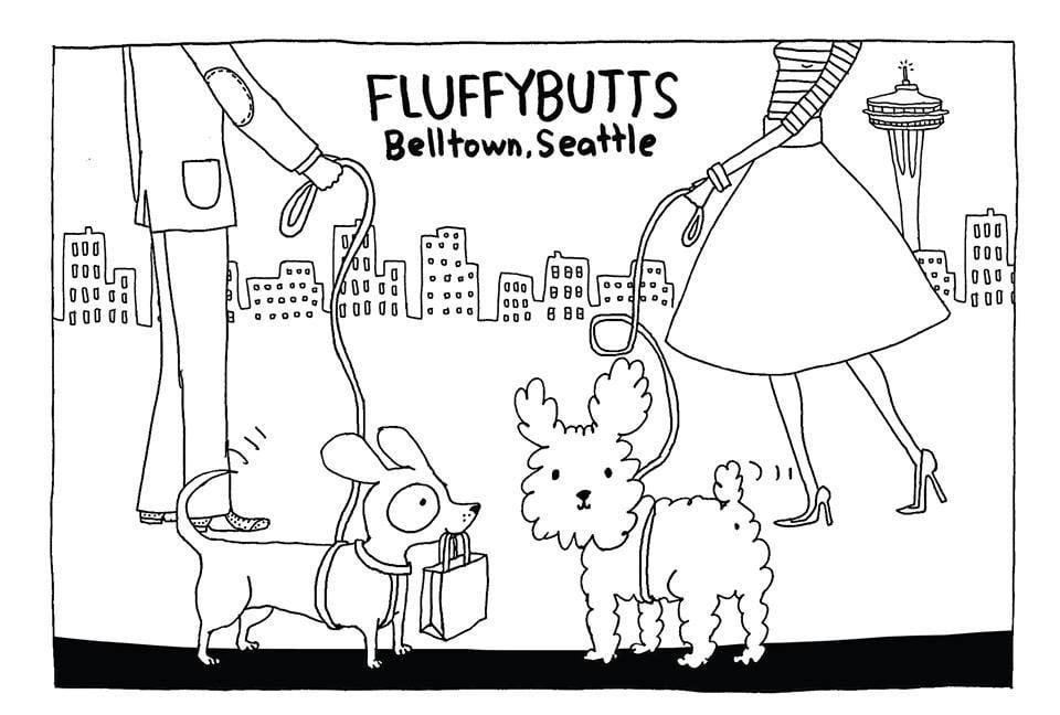 Fluffybutts Belltown Logo