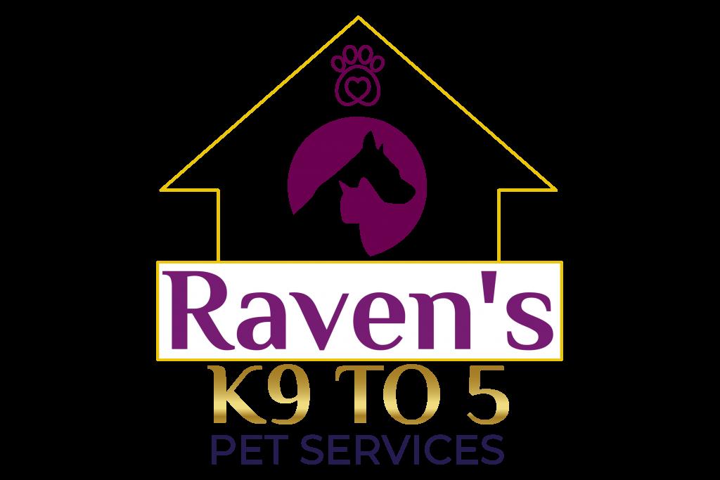 Ravens K9 to 5 Pet Services Logo