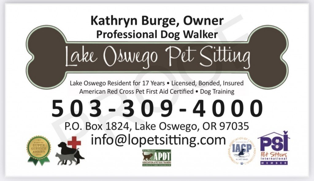 Lake Oswego Petsitting Logo
