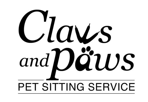 Claws and Paws Pet Sitting Service Logo