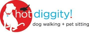 Hot Diggity! Dog Walking + Pet Sitting -- Portland Logo