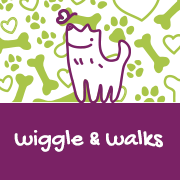 Wiggle and Walks Pet Care Logo