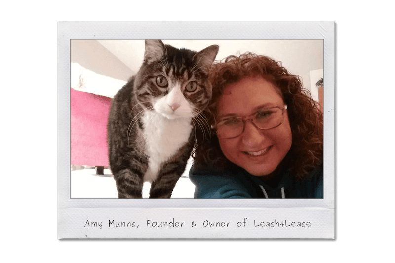 Founder Amy with her cat