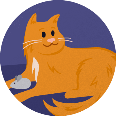 cat sitting badge