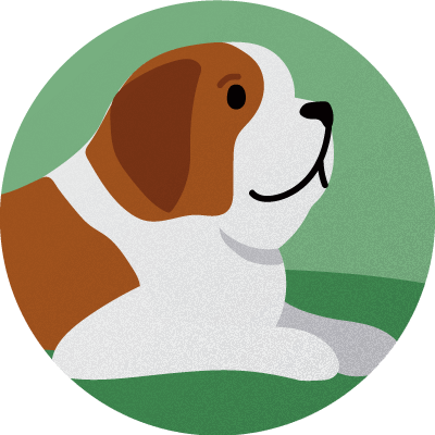dog sitting badge